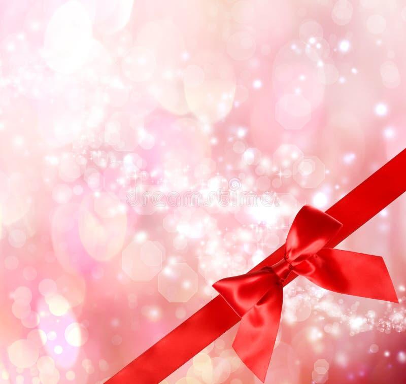 Download Roter Bogen Und Farbband Mit Bokeh Leuchten Stock Abbildung - Illustration von hintergrund, gruß: 27729693