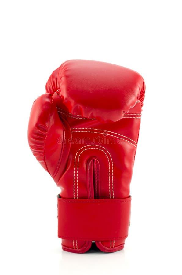 Roter Boxhandschuh auf dem weißen Hintergrund. (lokalisiert) lizenzfreie stockbilder