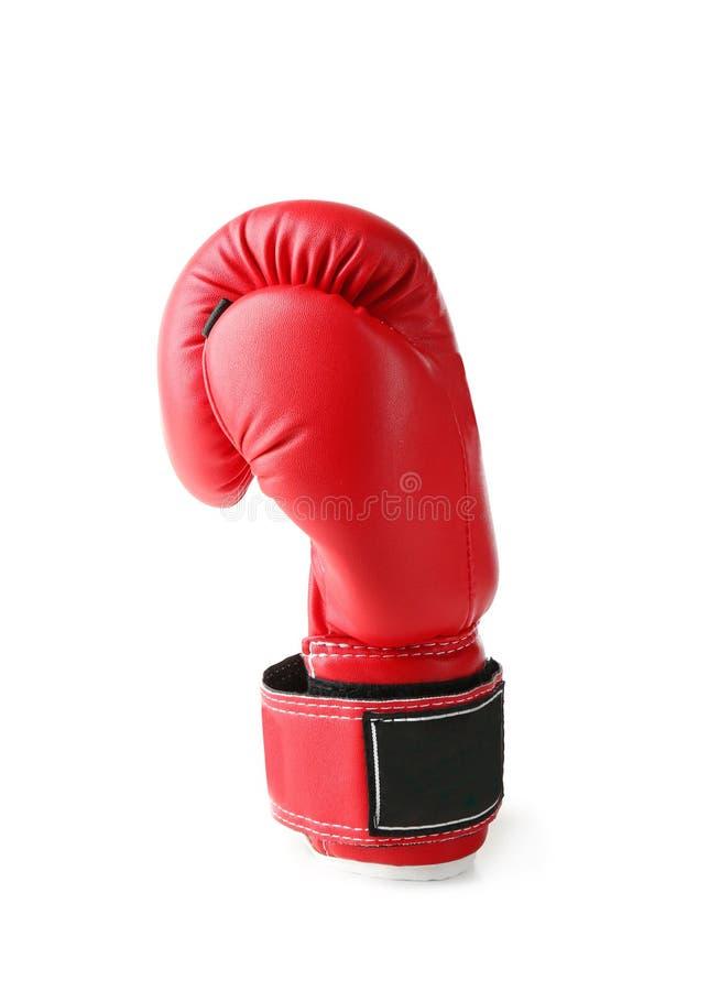 Roter Boxhandschuh, lokalisiert stockbilder