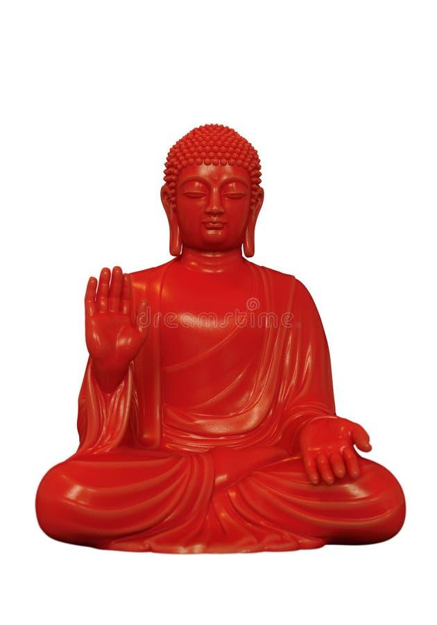 Roter Buddha lizenzfreie stockbilder