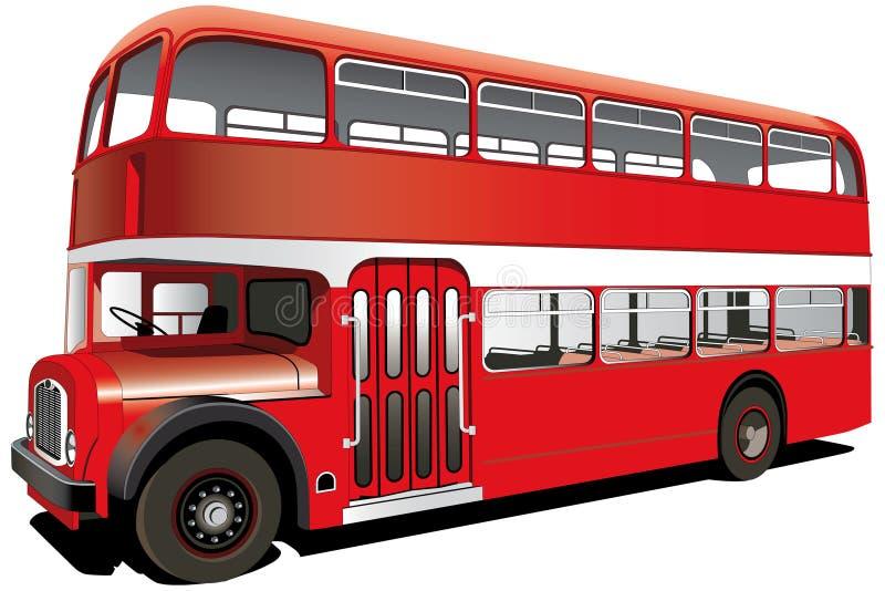 Roter Bus des doppelten Deckers lizenzfreie abbildung