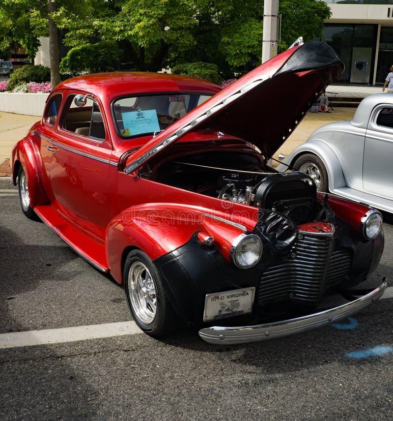1940 roter Chevy Coup stockbilder
