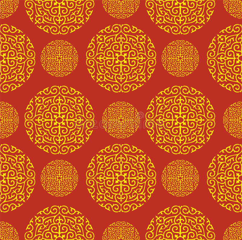 Roter chinesischer Muster-Hintergrund vektor abbildung