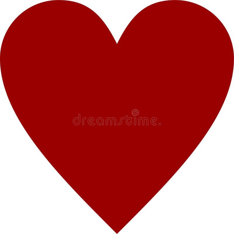 Roter Clipart-Herzvektor lizenzfreie abbildung