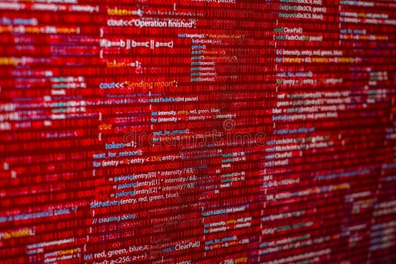 Roter Code stockfoto