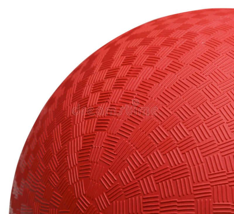 Roter Dodoge-Ball-Abschluss oben lizenzfreie stockbilder