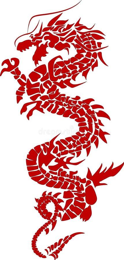 Roter Drache stock abbildung