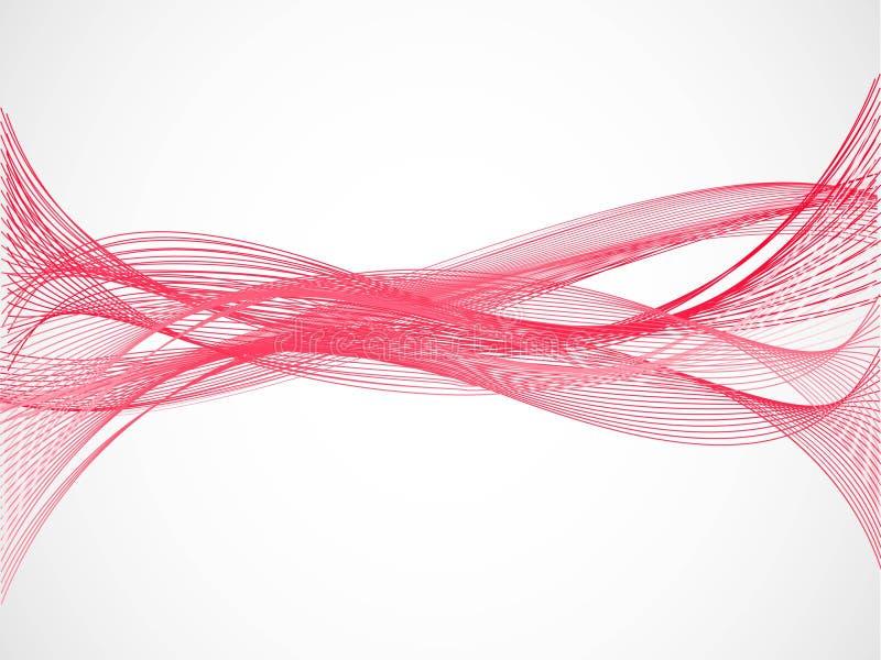 Roter Draht-Wellen-Hintergrund Vektor Abbildung - Illustration von ...