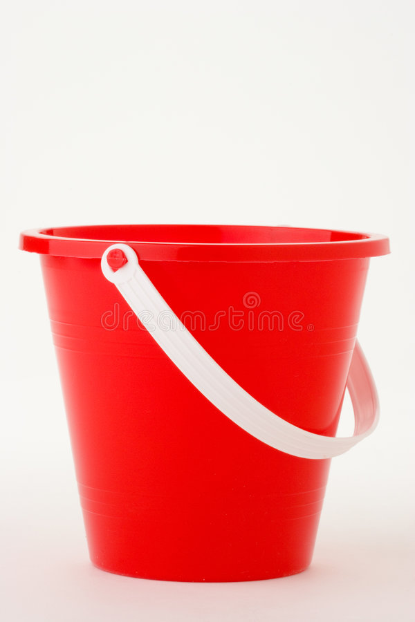 Roter Eimer stockbild