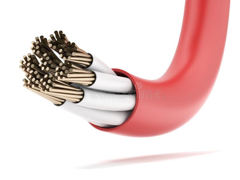 Roter elektrischer Seilzug stock abbildung. Illustration von kurve ...