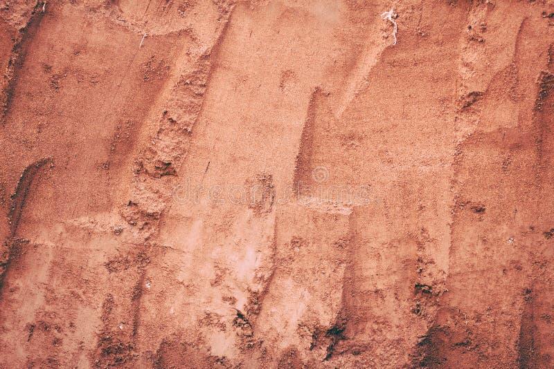 Roter Erdhintergrund Rot beschädigt Farbhintergrund Hintergrund imag stockfotos