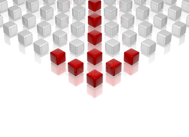 Roter Führer vektor abbildung