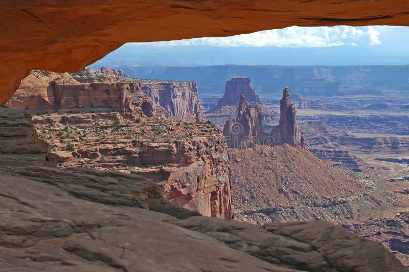 Roter Felsen und Wüste gestalten, Südwesten USA landschaftlich stockfoto