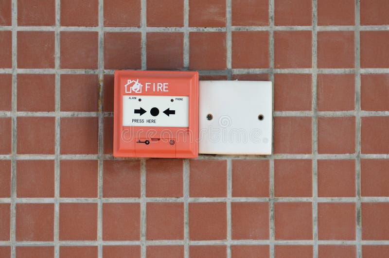 Roter Feuermelder stockfotografie