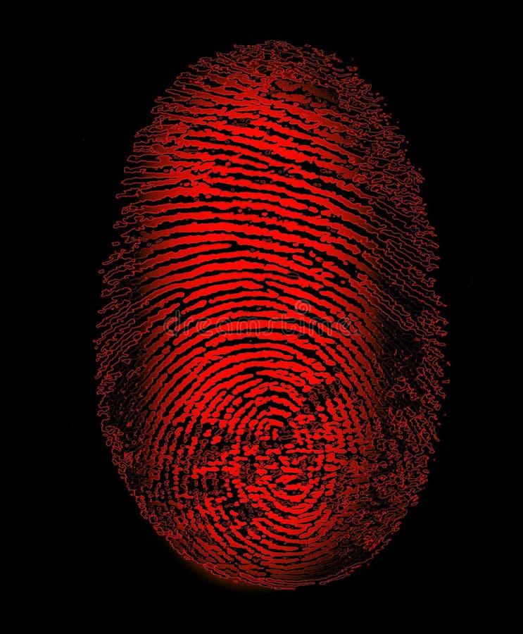 Roter Fingerabdruck lizenzfreies stockfoto
