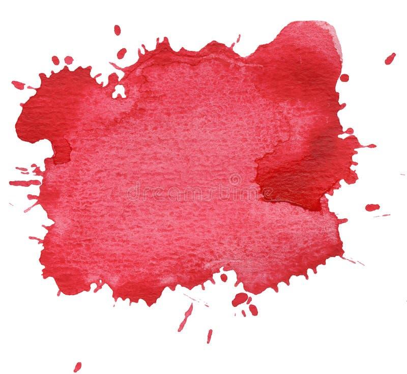 Roter Fleck getrennt auf Weiß lizenzfreies stockfoto