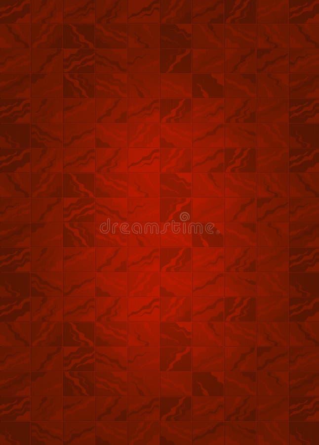 Roter Fliesen-Hintergrund stock abbildung