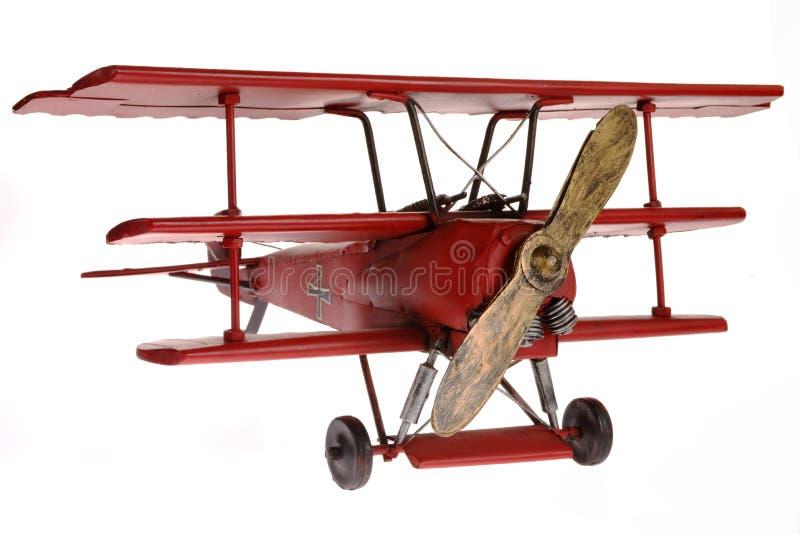 Roter FokkerTriplane stockbild