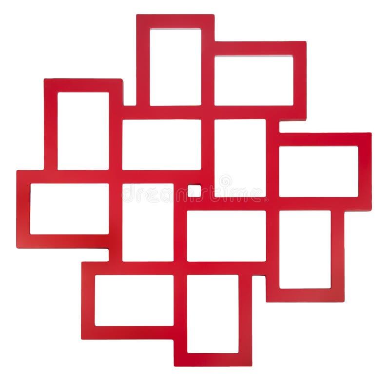 Roter Fotorahmen lizenzfreies stockfoto
