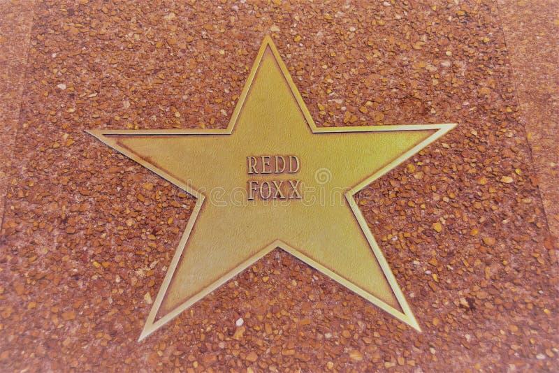 Roter Foxx-Stern, St. Louis Walk des Ruhmes stockbild