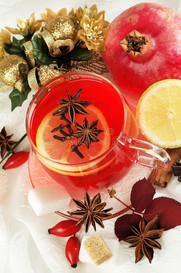 Roter Fruchttee stockfoto