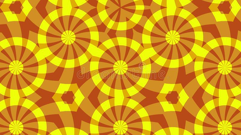 Roter gelber Hintergrund, der die Form ändert lizenzfreie stockfotografie