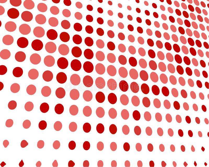 Roter gelegentlicher Dots Background, kreative Entwurfs-Schablonen lizenzfreie abbildung