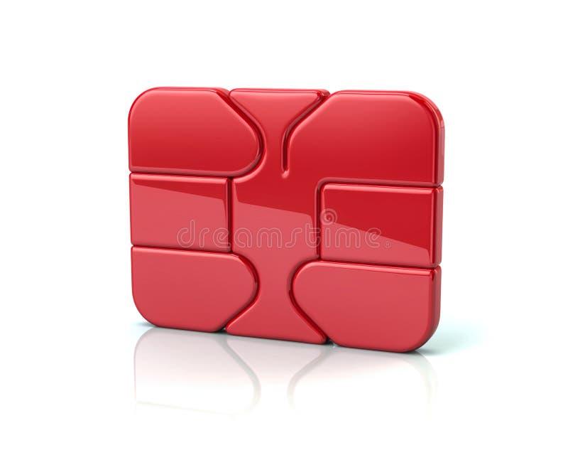 Roter Geschäftskreditdebitkartebank ATM-Chip vektor abbildung