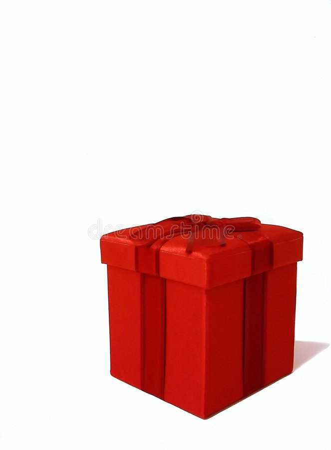 Roter Geschenk-Kasten stockfotos