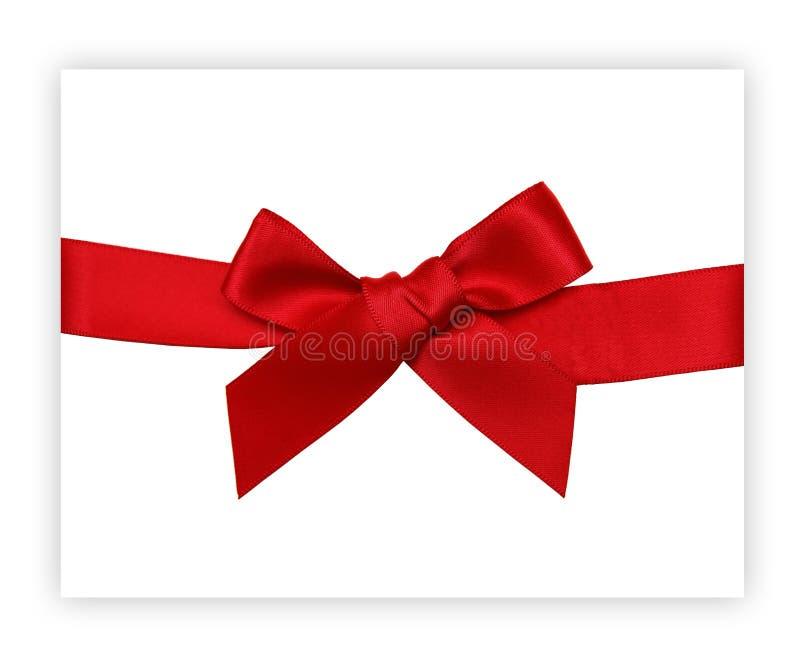 Roter Geschenkfarbbandbogen stockbilder