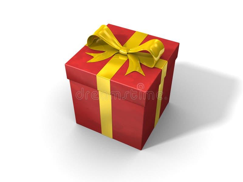 Roter Geschenkkasten stock abbildung