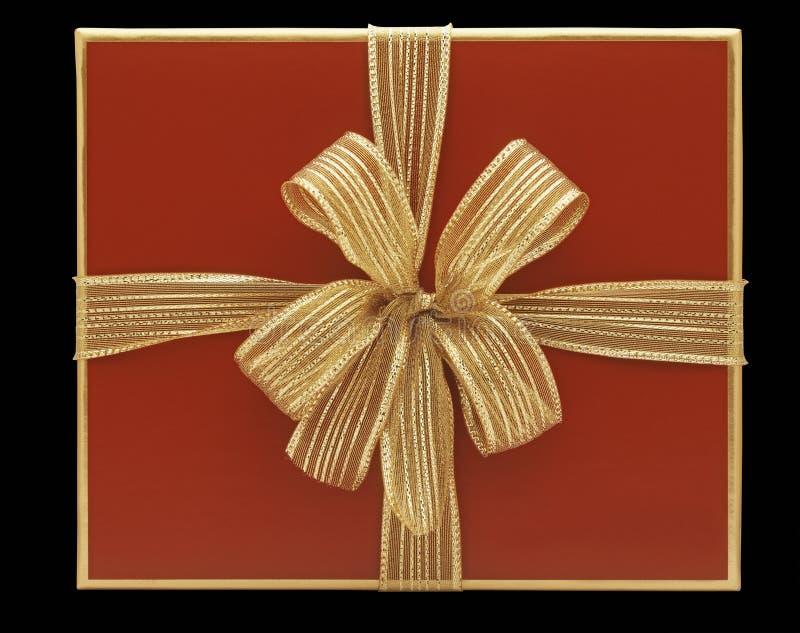 Roter Geschenkkasten lizenzfreie stockfotos