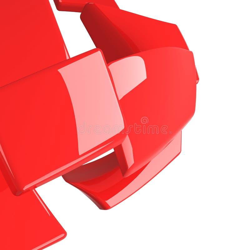 Download Roter Getrennter Viereckshintergrund Stock Abbildung - Illustration von bunt, glatt: 9092685