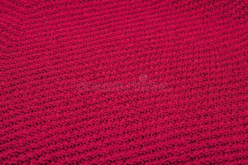 Roter Gewebebeschaffenheitshintergrund, Beschaffenheit für Entwurf Kann als Hintergrund, Tapete verwendet werden lizenzfreies stockbild