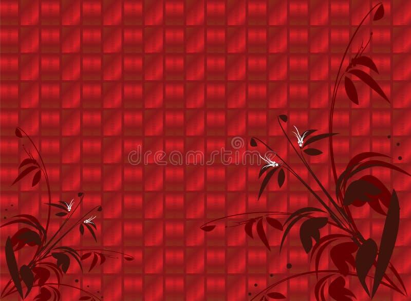 Roter glänzender Blumenhintergrund vektor abbildung