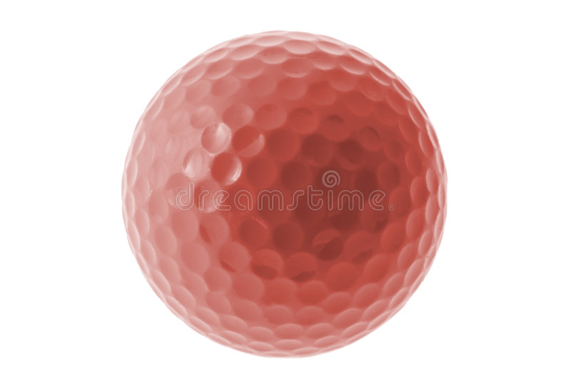 Roter Golfball stockbild