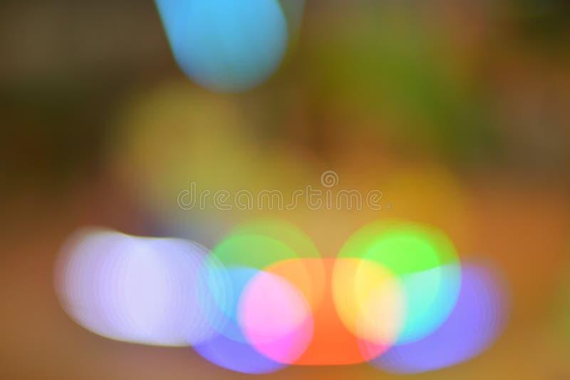 Roter grün-blauer bokeh Zusammenfassungs-Lichthintergrund stockfoto