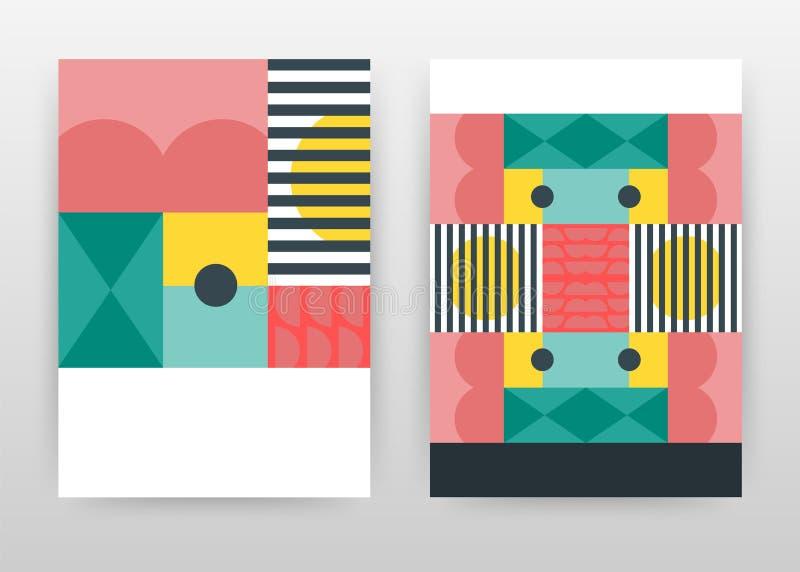 Roter grün-blauer bunter Geschäftshintergrundentwurf für Jahresbericht, Broschüre, Flieger, Plakat Farbige abstrakte Broschürensc lizenzfreie abbildung