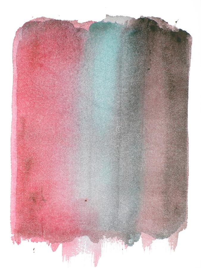 Roter grunge Auszugs-Aquarellhintergrund lizenzfreie abbildung