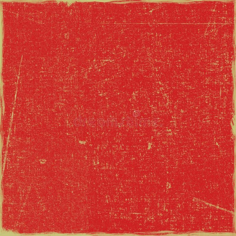 Roter Grungy Kunstdruckpapier-Einklebebuch-Hintergrund lizenzfreie stockfotografie