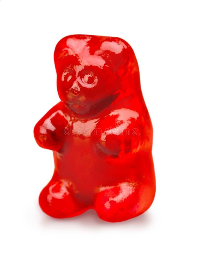 Roter gummiartiger Bär lizenzfreies stockfoto