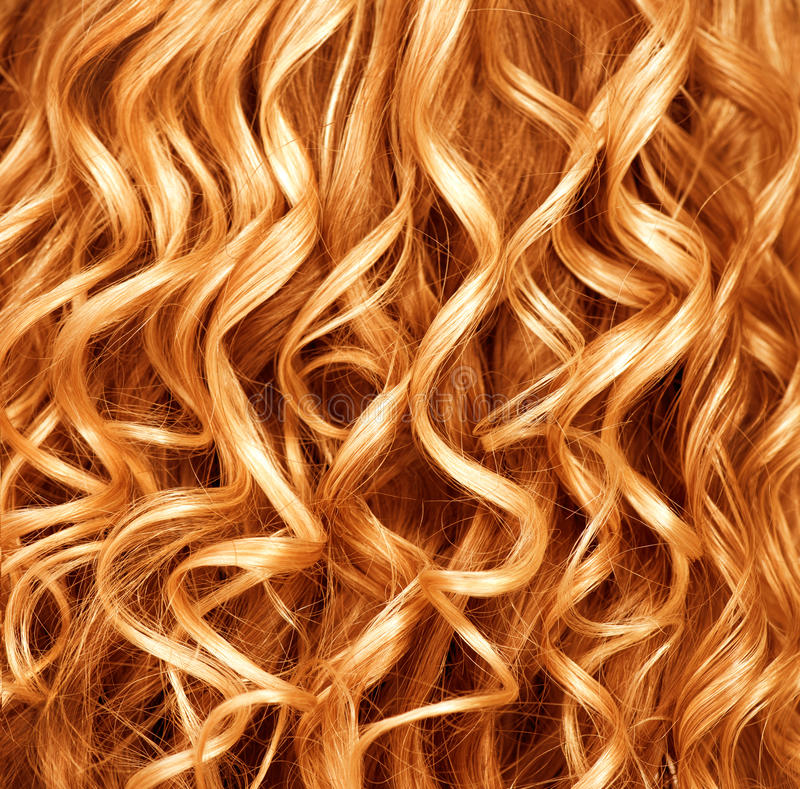 Roter Haarhintergrund Permed lizenzfreie stockfotografie