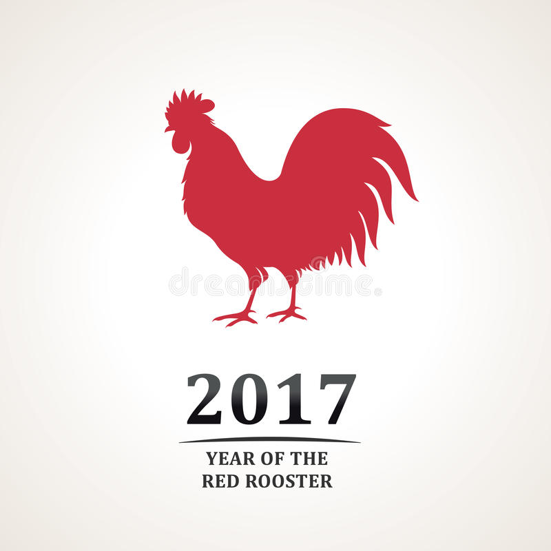 Roter Hahn Kunst roter hahn des vektors symbol 2017 das emblem das neue jahr