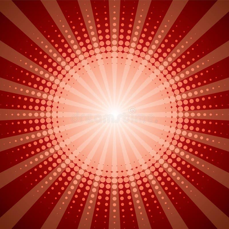 Roter Halbtonshineeffekt stock abbildung