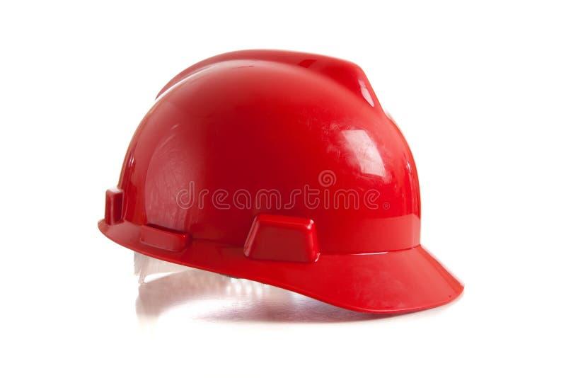 Roter harter Hut auf Weiß lizenzfreie stockbilder