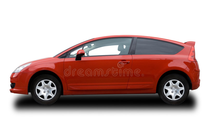 Roter Hatchback stockbilder