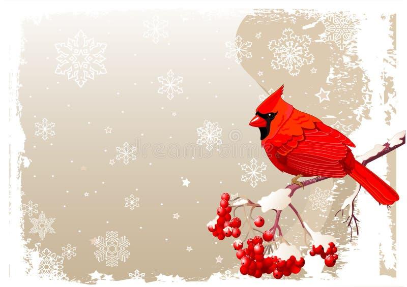 Roter hauptsächlicher Vogelhintergrund lizenzfreie abbildung