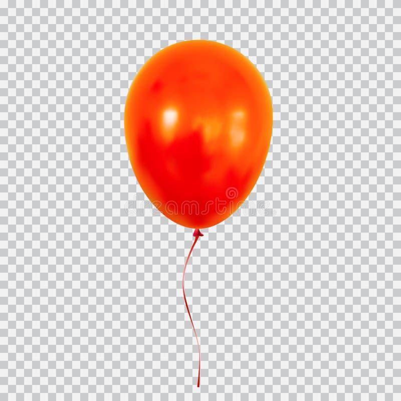 Roter Heliumballon lokalisiert auf transparentem Hintergrund vektor abbildung