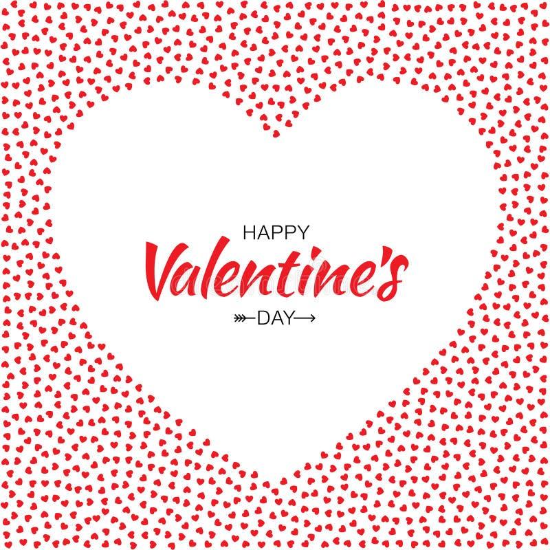 Roter Herz-Rahmen-Hintergrund Für Valentinsgruß-Tagesdesign-Vektor ...