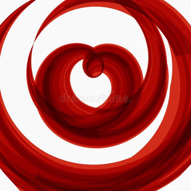 Roter Herzform-Hochzeitshintergrund lizenzfreie abbildung